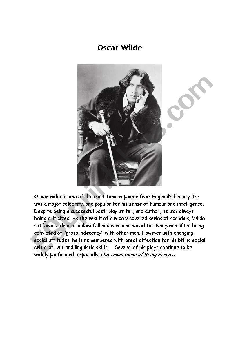 Oscare Wilde worksheet