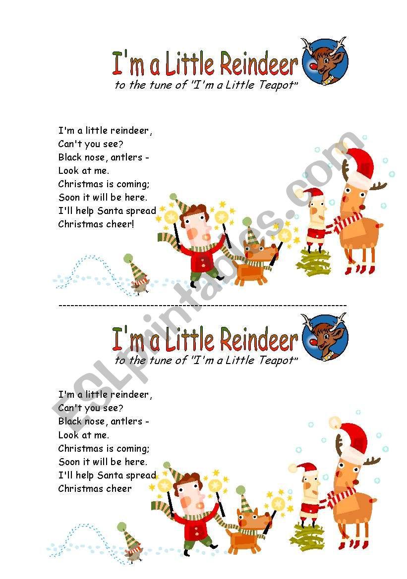 christmas song worksheet