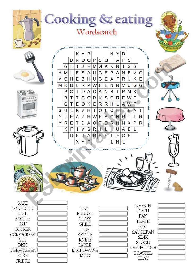 COOKING & EATING worksheet
