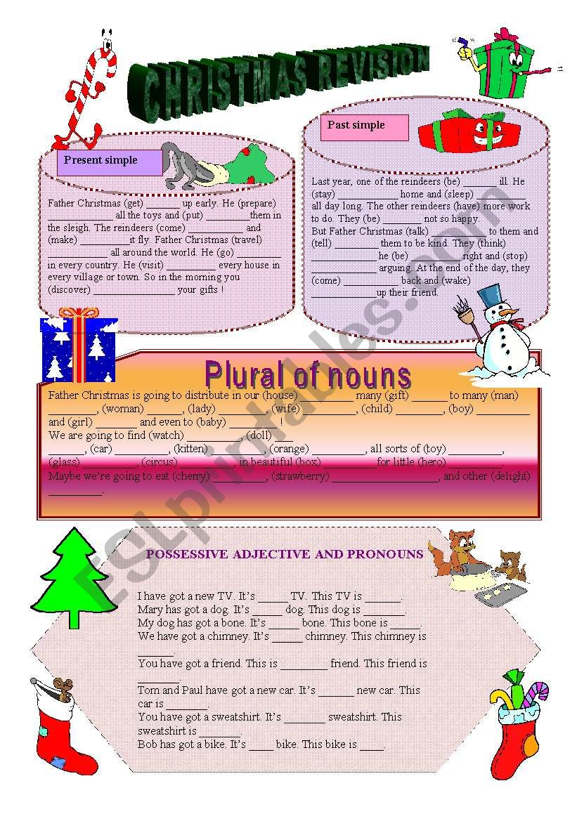 CHRISTMAS REVISON worksheet