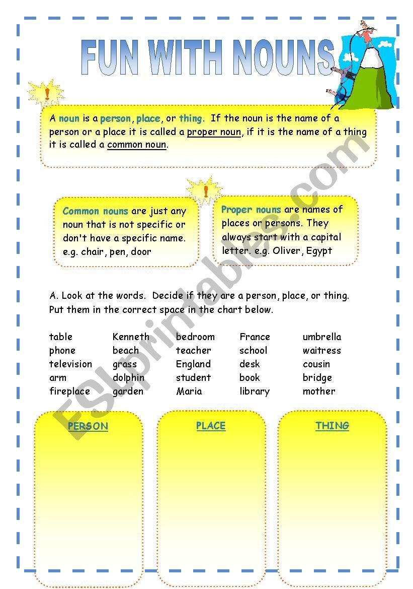 Fun with Nouns! worksheet