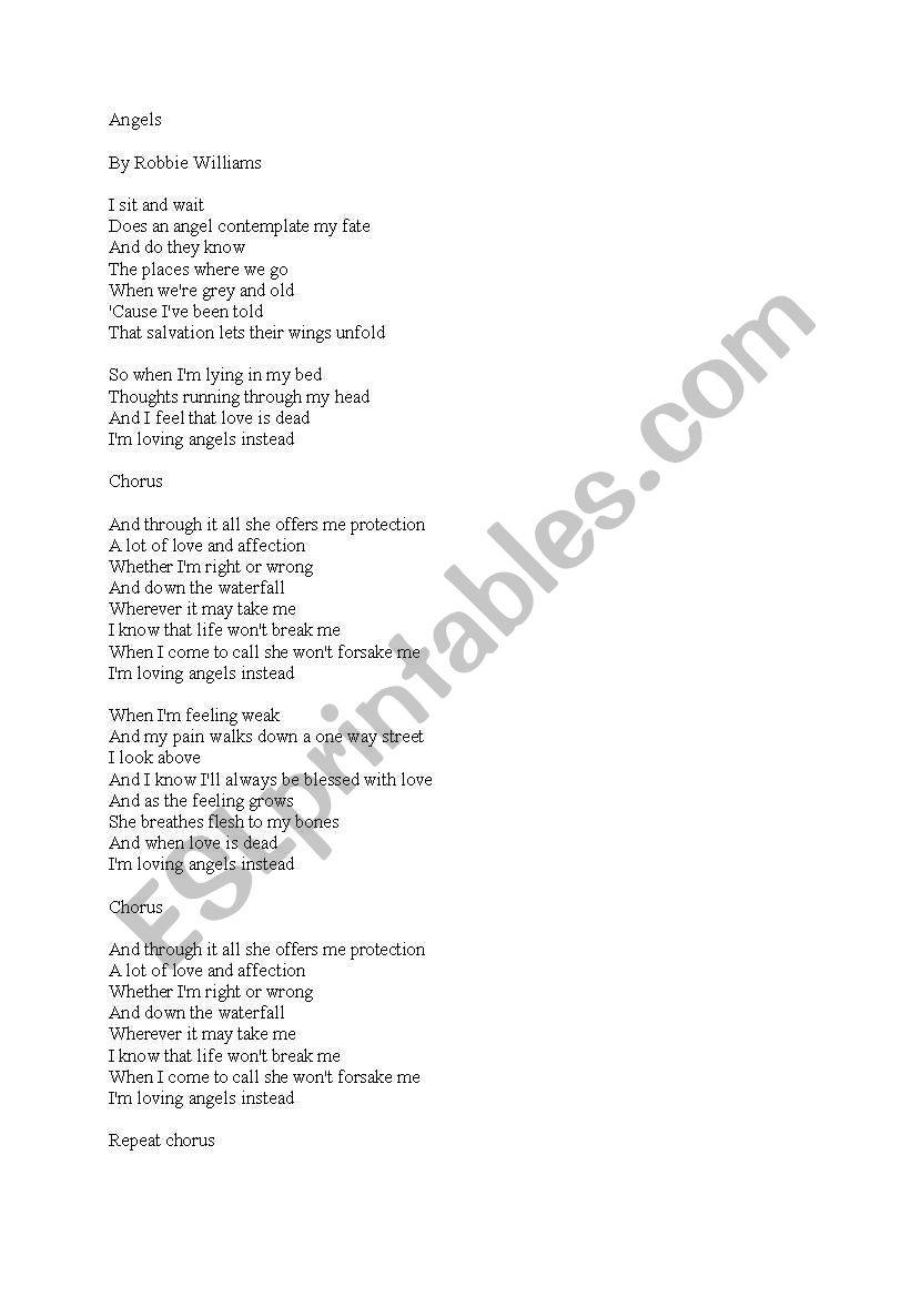 feel robbie lyrics