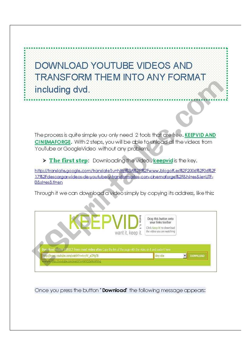 TUTORIAL!!!! Part 1 How to convert youtube videos into any format including dvd .