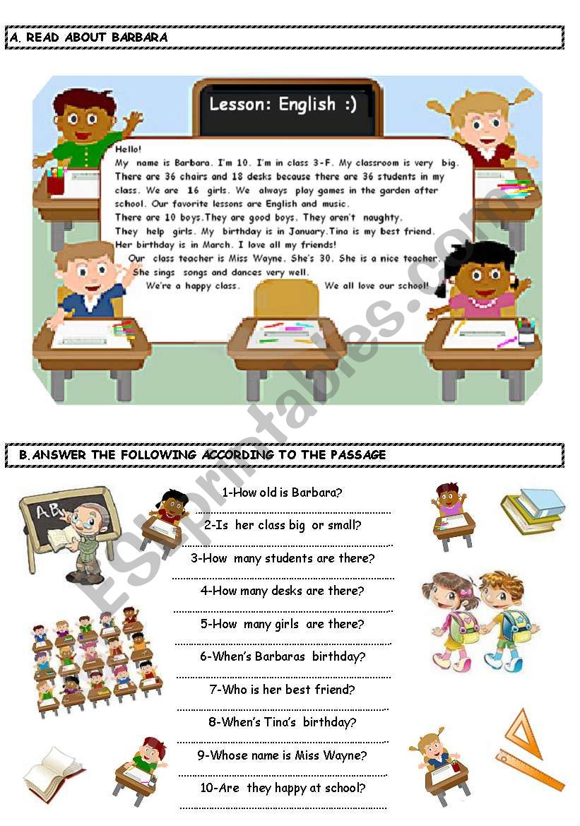 Reading Activity worksheet