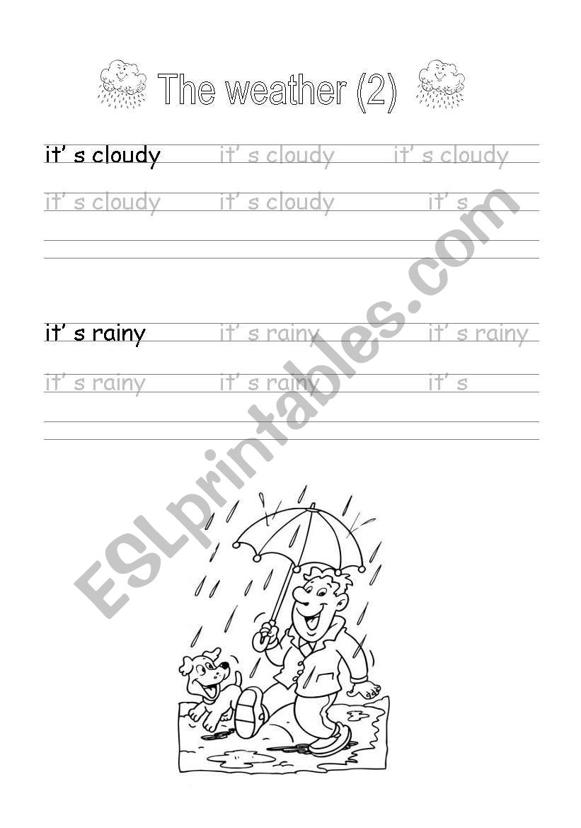Handwriting: The weather (2) worksheet