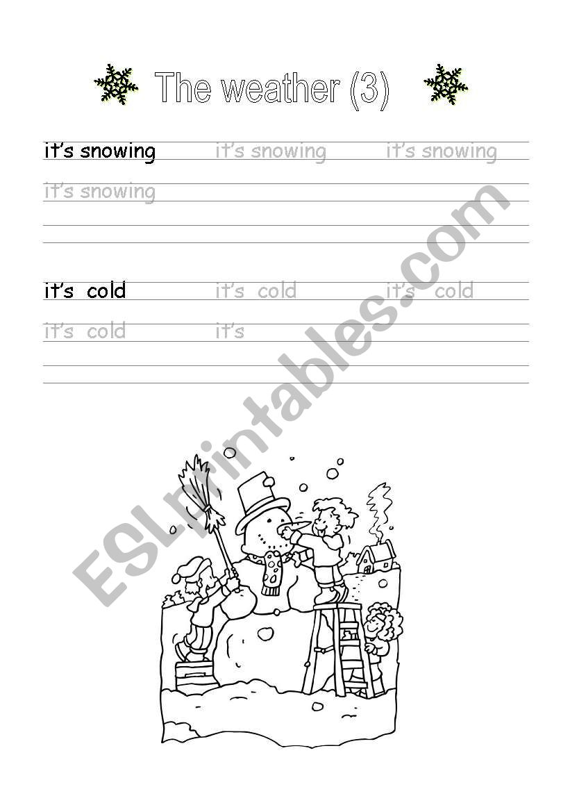 handwriting the weather 3 esl worksheet by breuil. Black Bedroom Furniture Sets. Home Design Ideas
