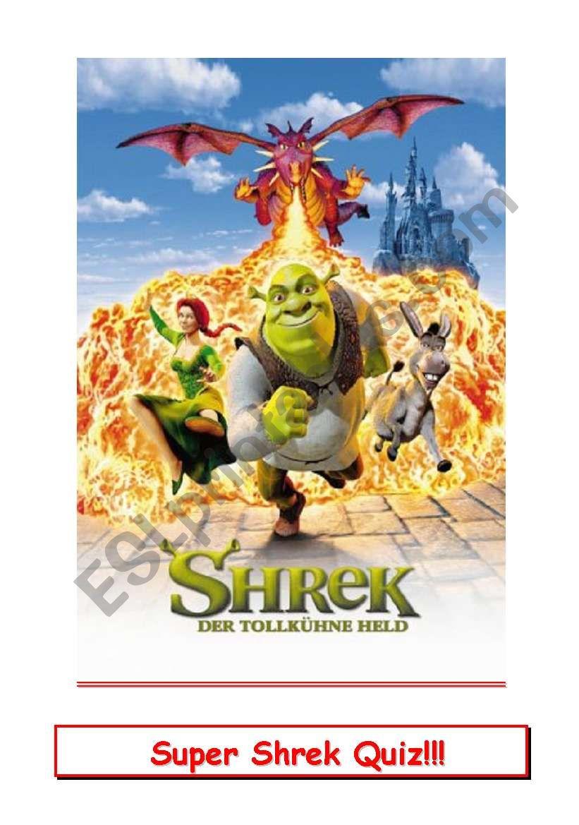 Shrek Movie Quiz worksheet
