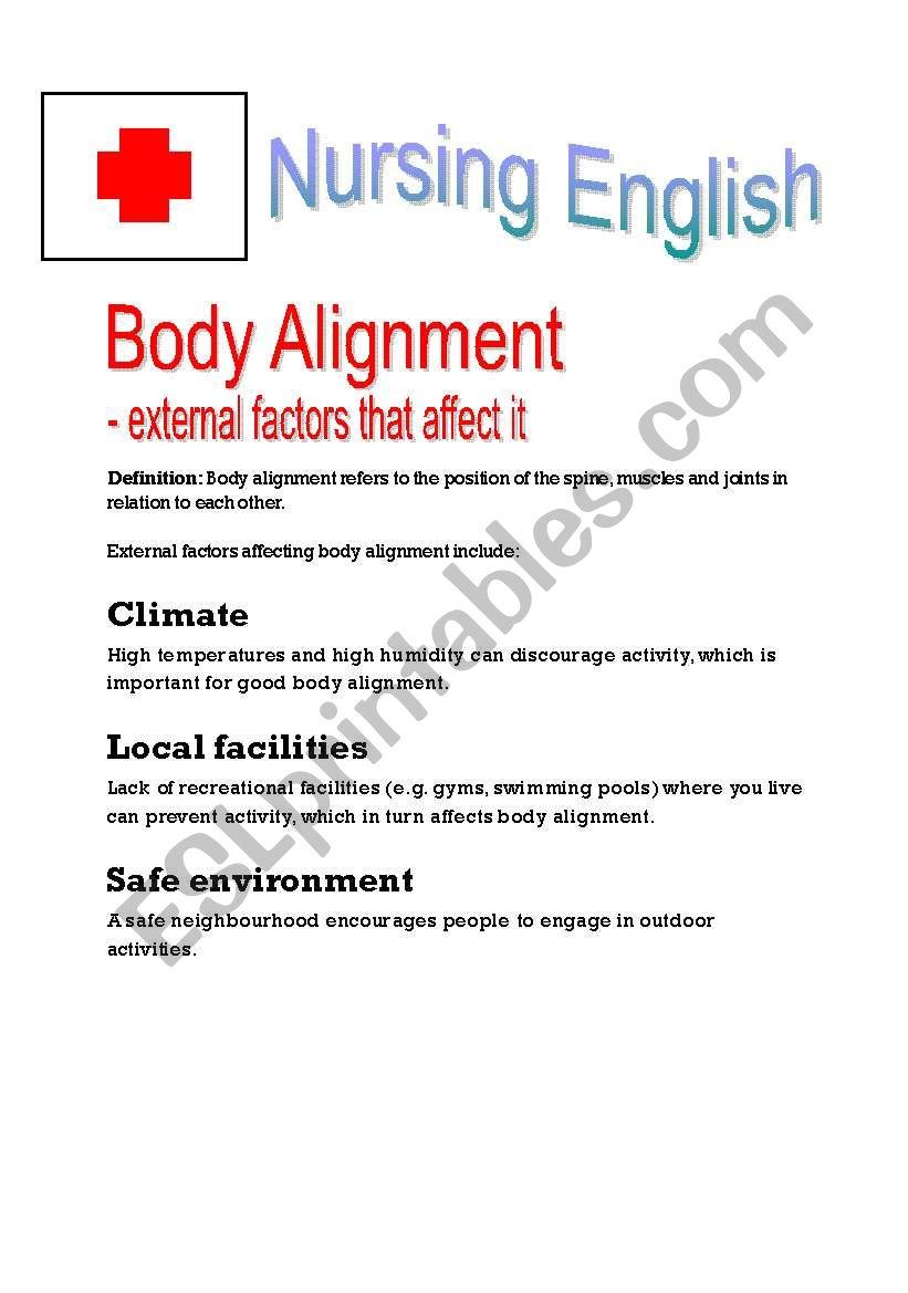 Nursing English - Body Alignment