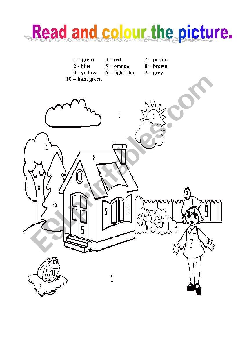 Colour the picture worksheet