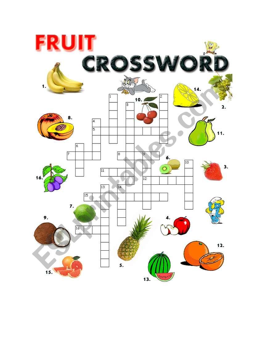 Fruit Crossword worksheet