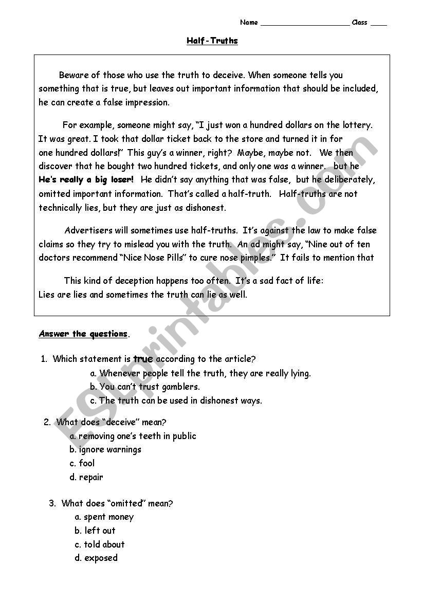 - Unseen = Reading Comprehension Exsercise - ESL Worksheet By Bow Wow