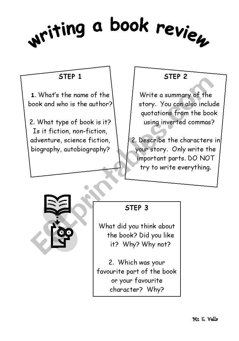 Writing A Book Review Esl Worksheet By Edithv