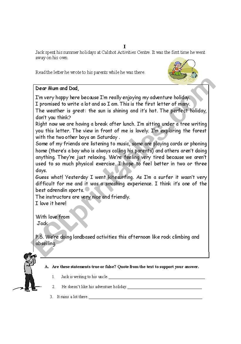 Written test  (4 pages)  worksheet