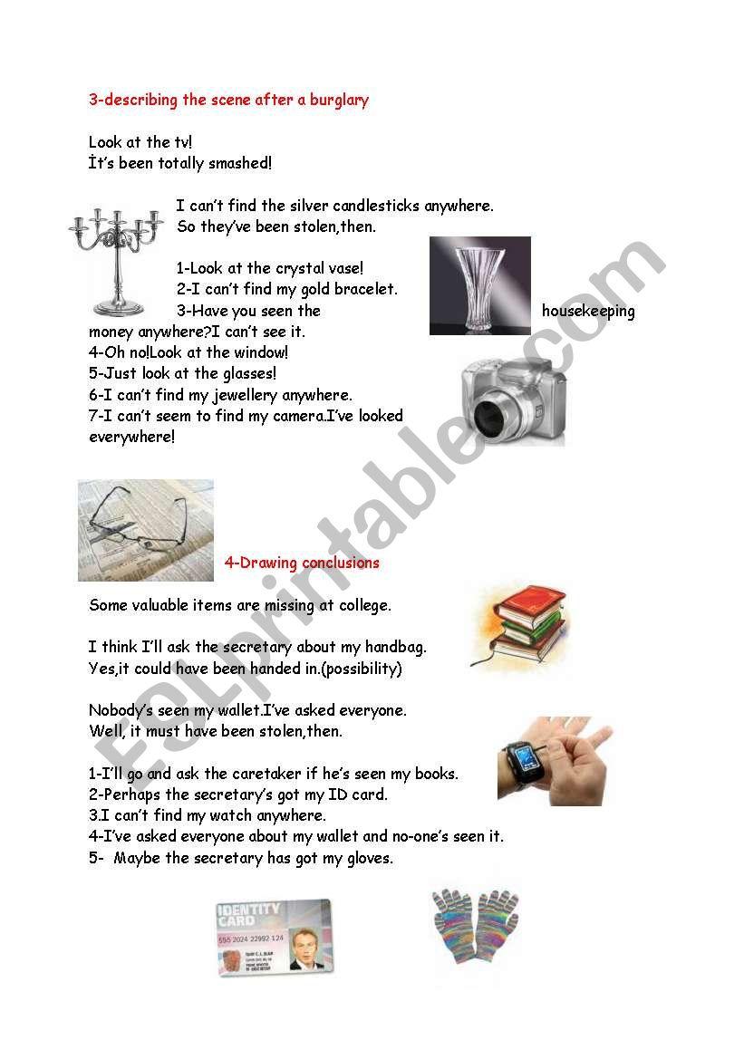 describing things 2 worksheet