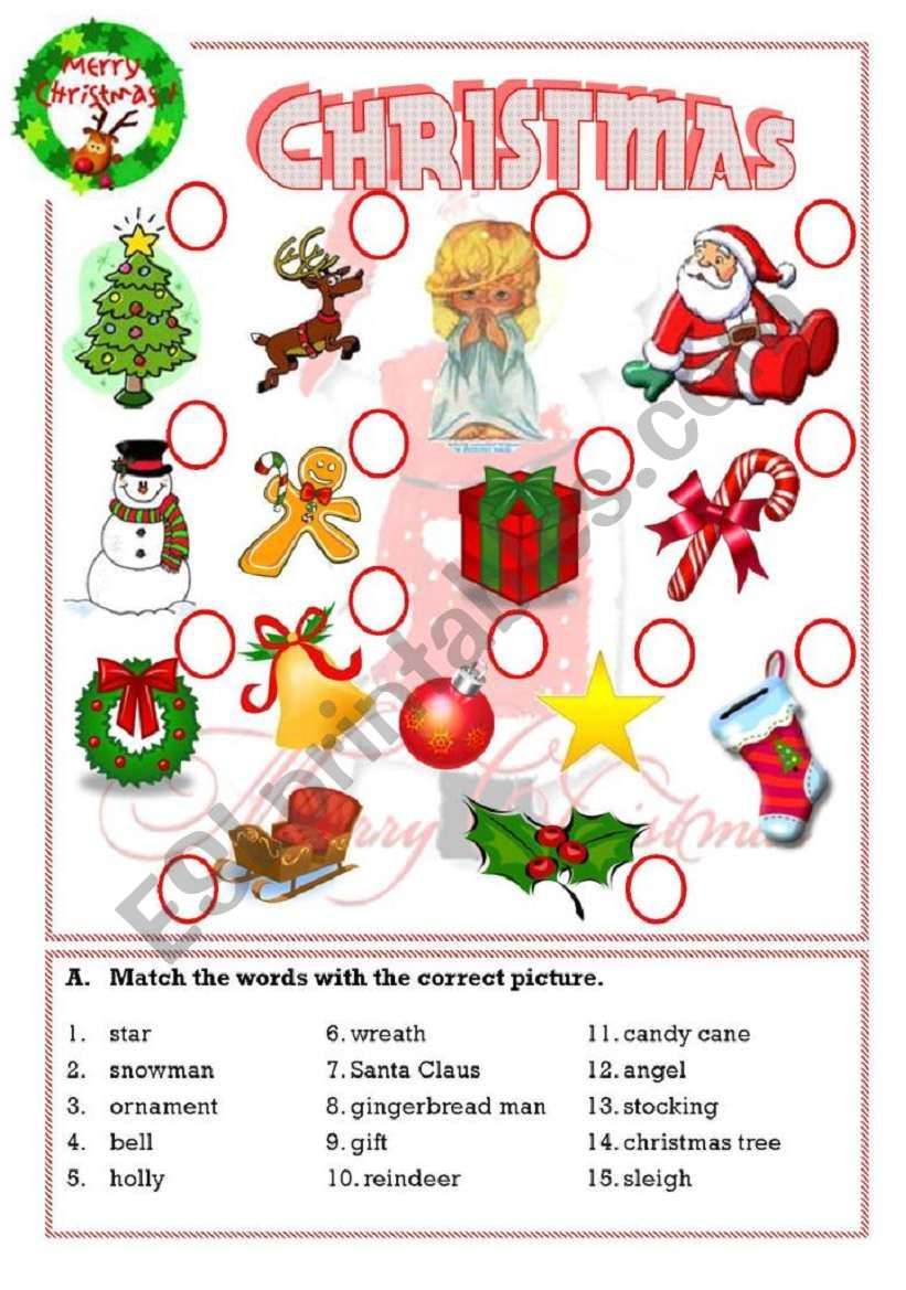 - Christmas - ESL Worksheet By Isaserra