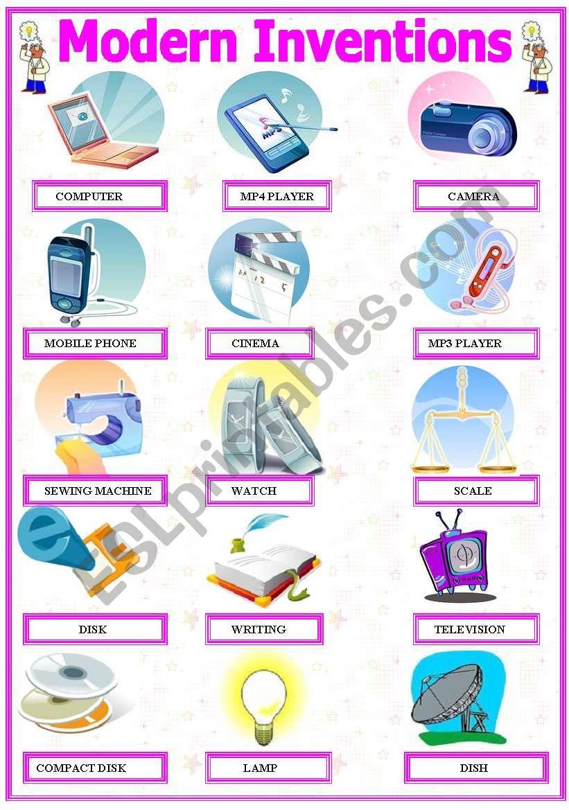 Modern Inventions worksheet