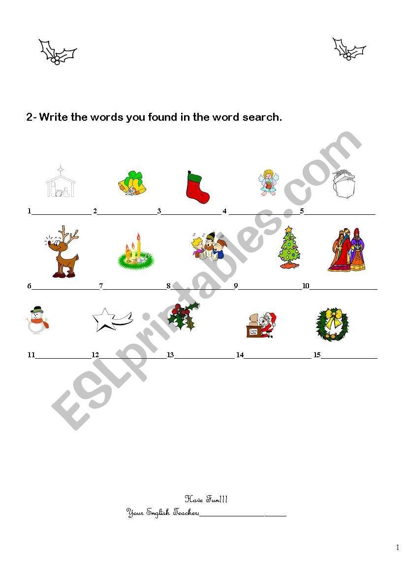 Christmas vocabulary - Part II