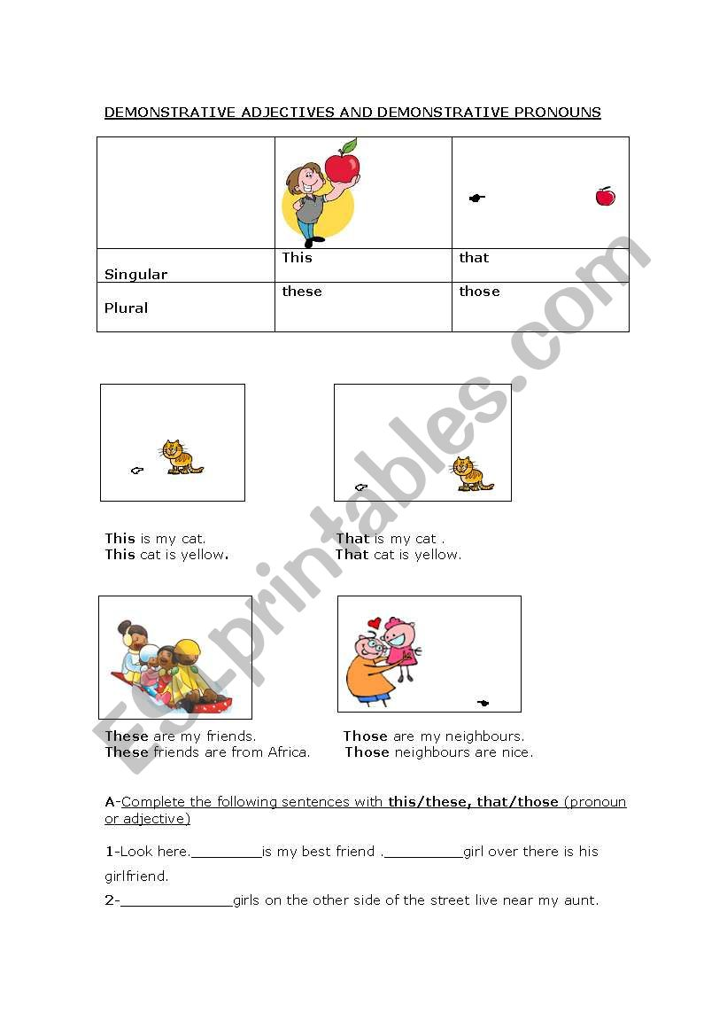 Demonstrative_Adjectives worksheet