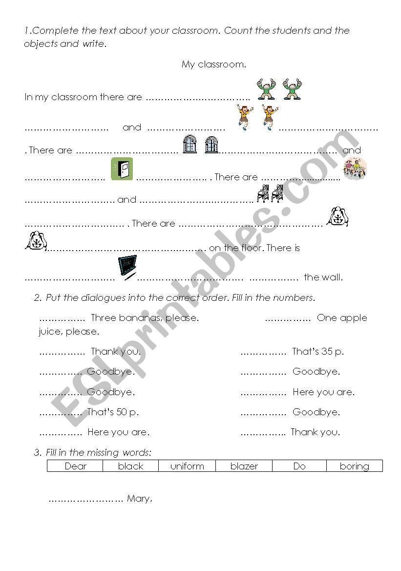 Revision Part 1 worksheet
