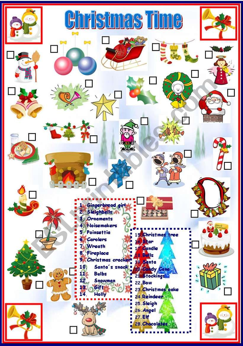 Christmas Time worksheet