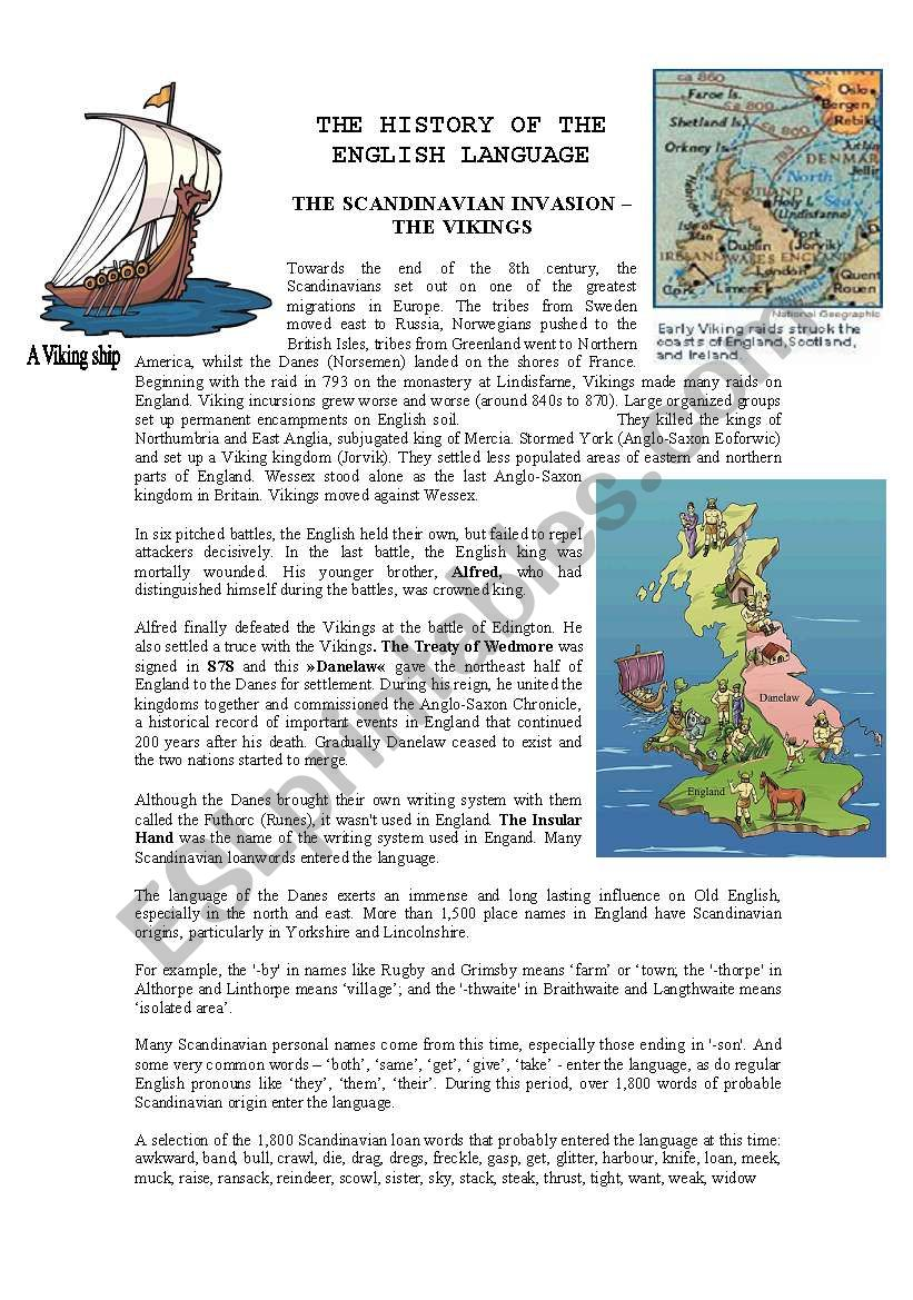 History of the English language - The Vikings