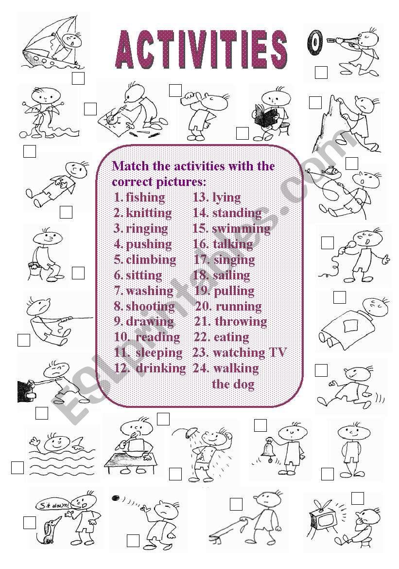 Activities (1 of  2) worksheet
