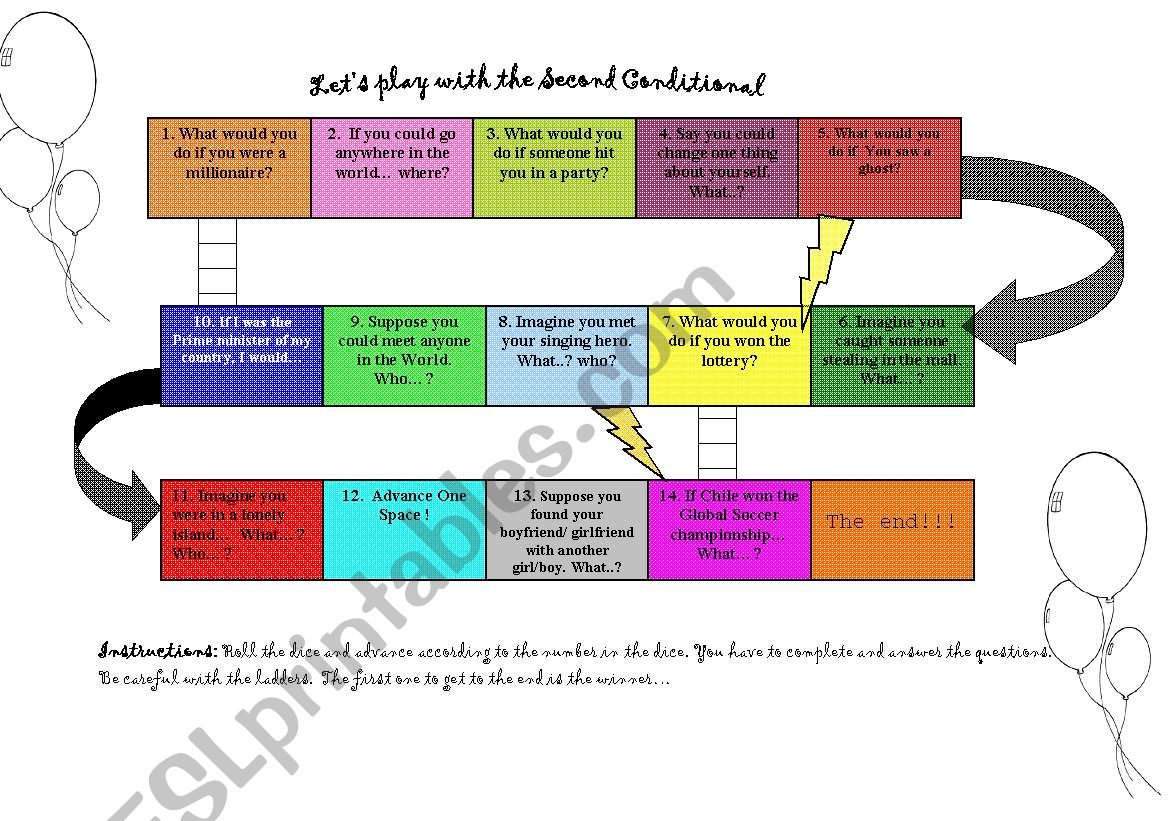 Let´s play with Conditionals! worksheet