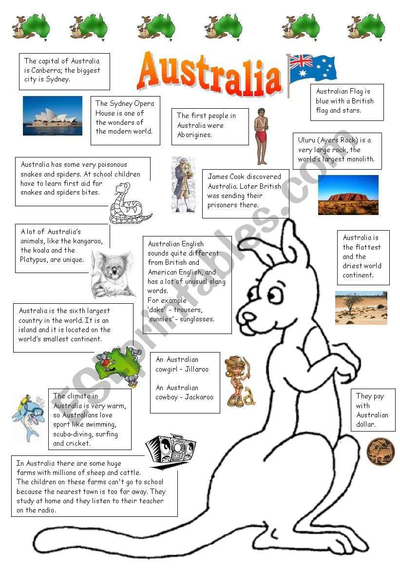 Australia worksheet