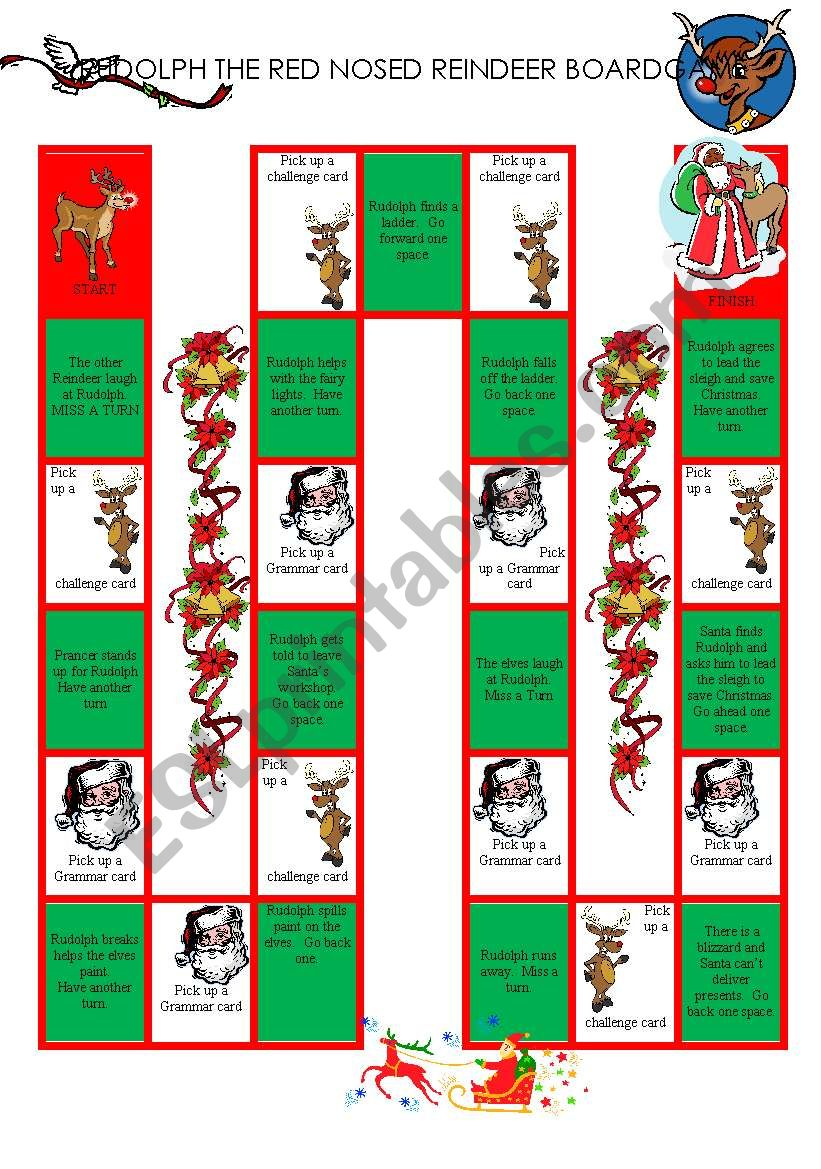 Rudolph The Red Nosed Reindeer BoardGame (1/3)