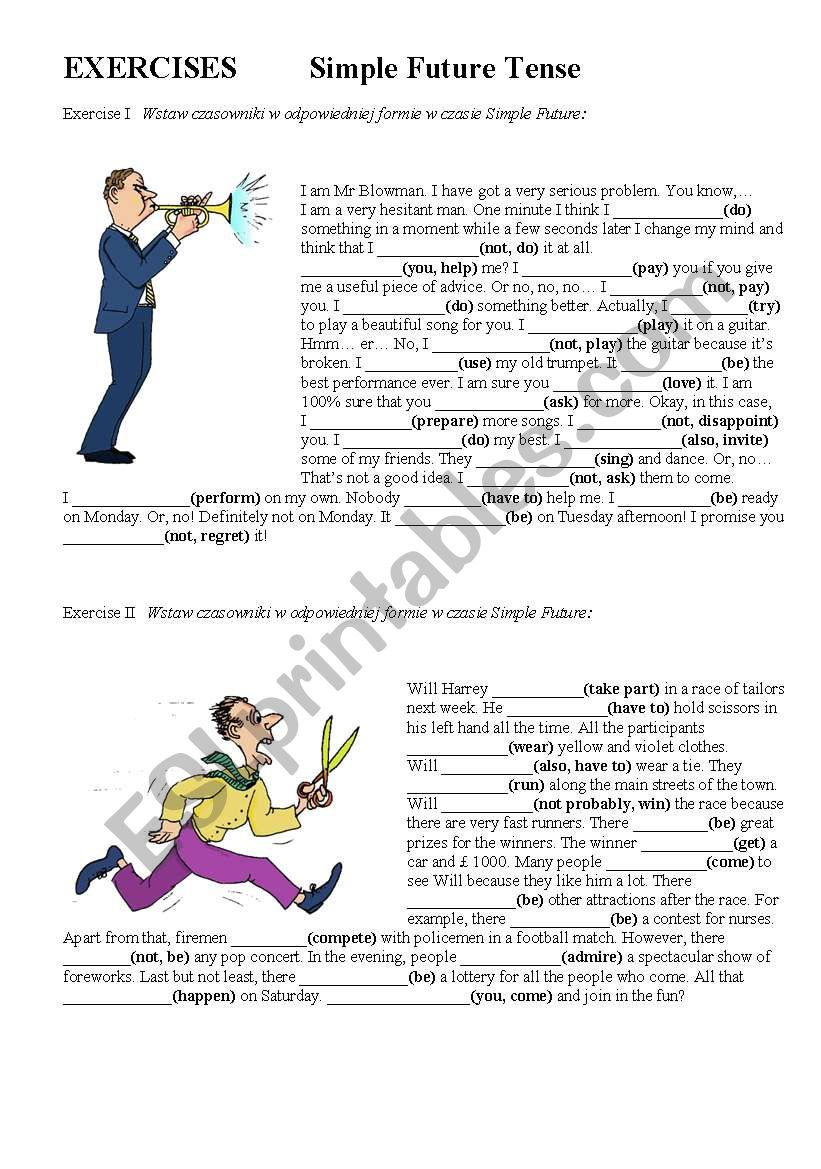 Simple Future Tense worksheet