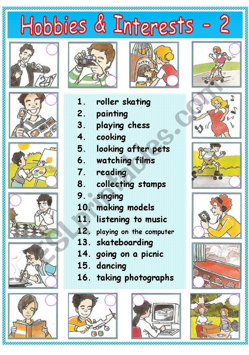 Hobbies & Interests - 2 / 2
