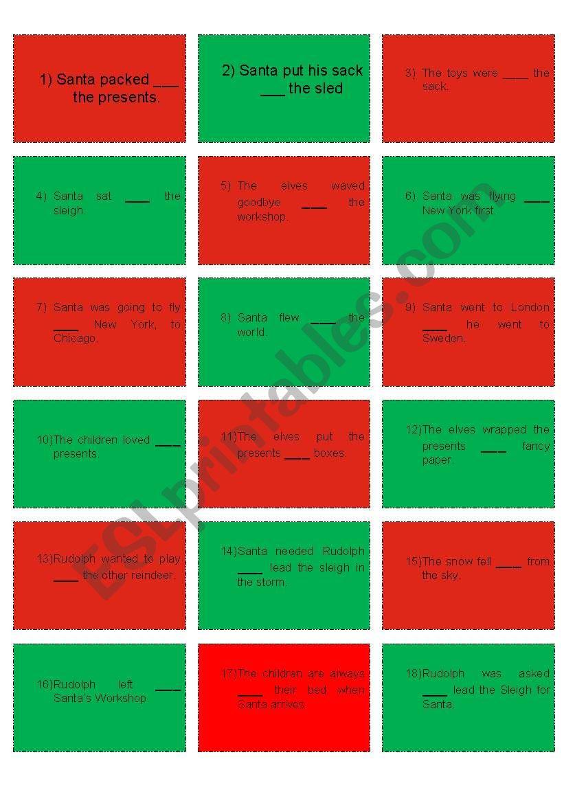 Rudolph Game Grammar Cards (2/3)