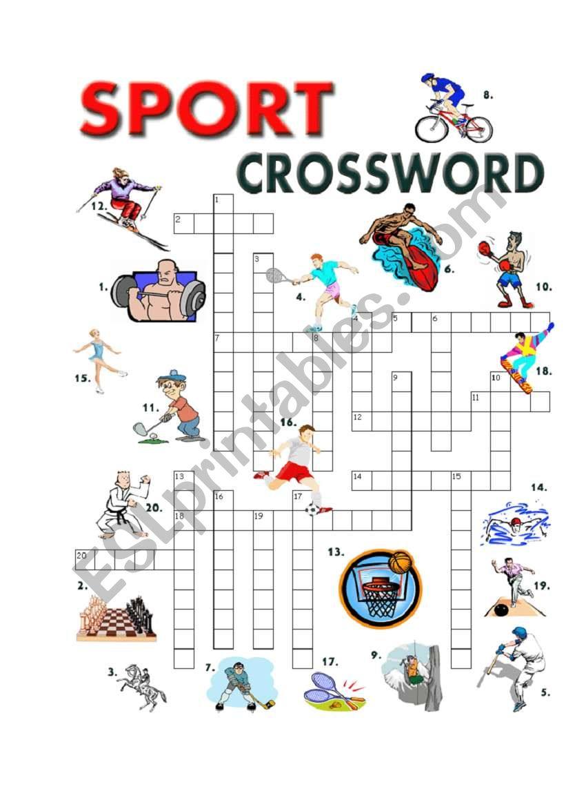 SPORT CROSSWORD worksheet