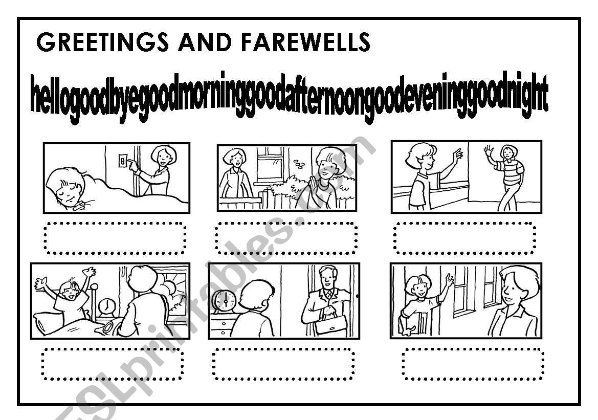 GREETING AND FAREWELLS worksheet