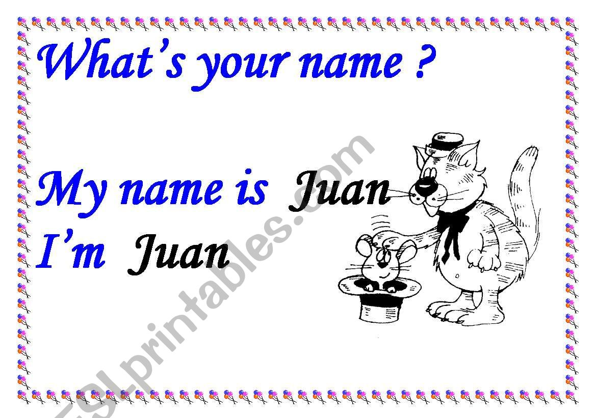WHAT´S YOUR NAME? SIGN  worksheet