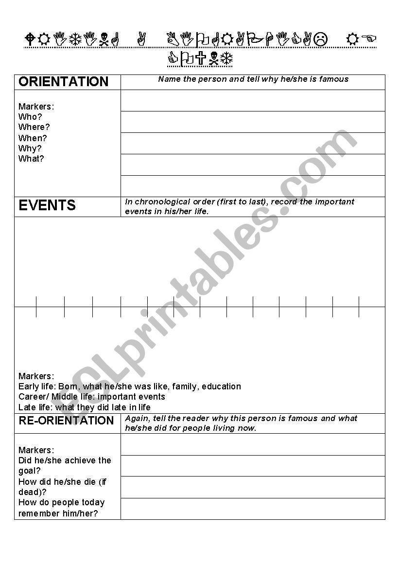 Notetaking worksheet