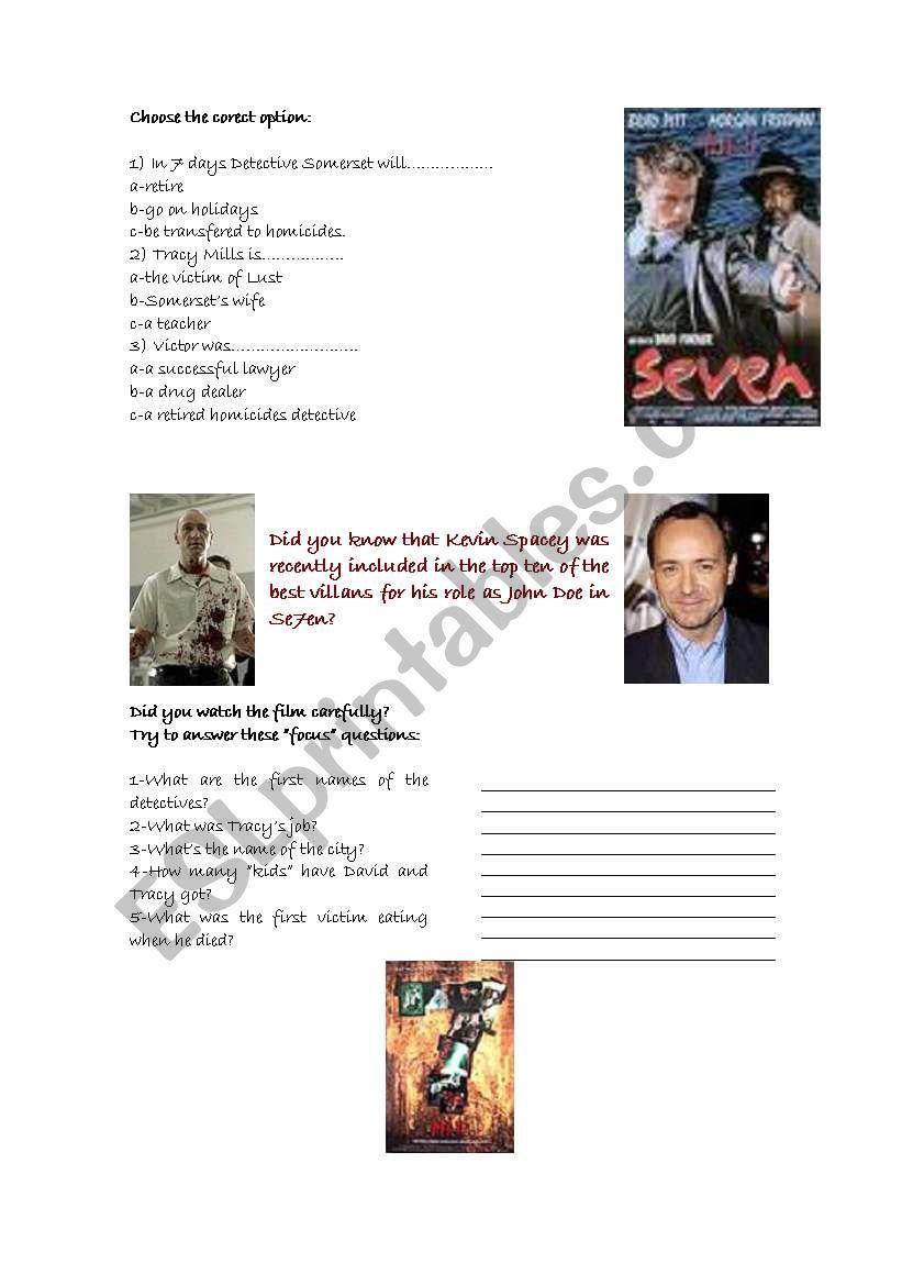 SEVEN- PART 2 worksheet