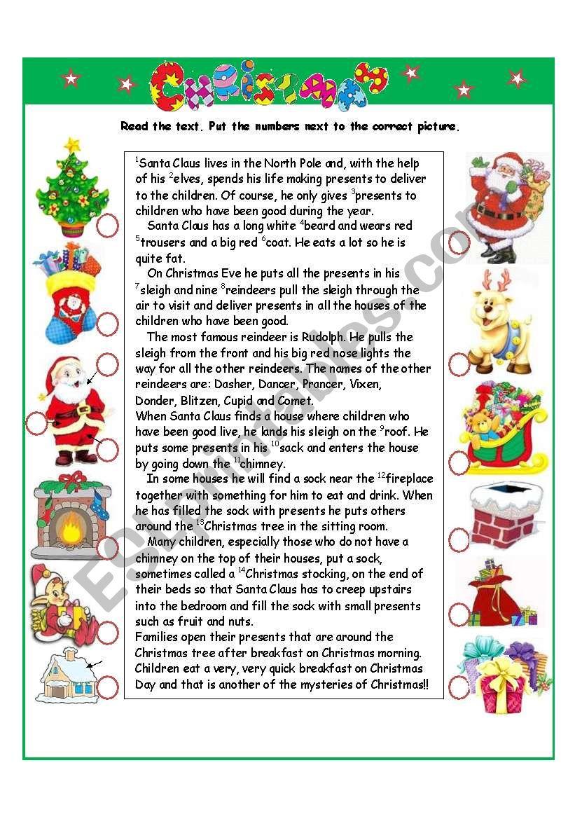 Christmas I part worksheet