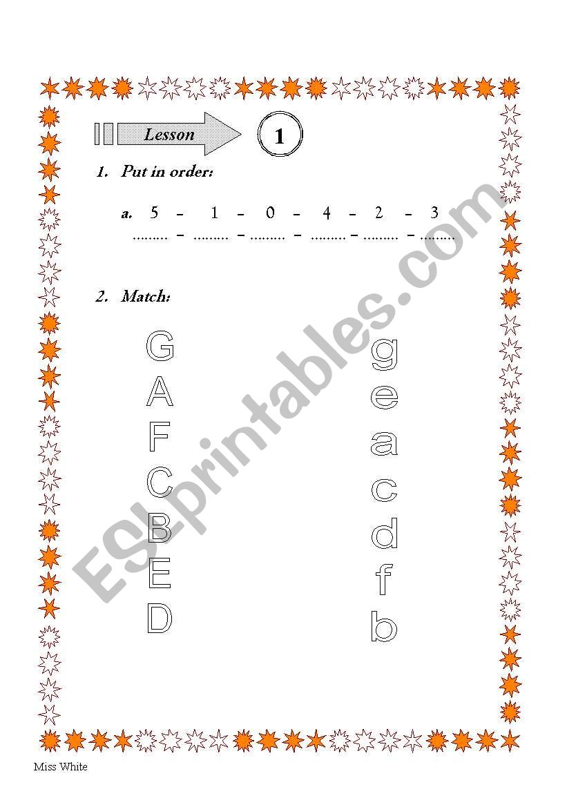 Numbers and Letters worksheet