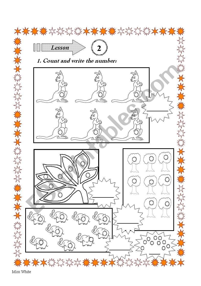 count and number worksheet