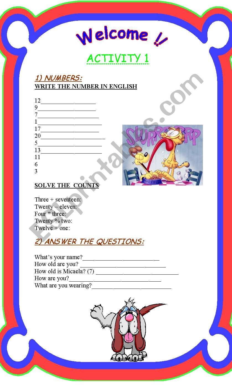 JUST FOR KIDS!!!! worksheet