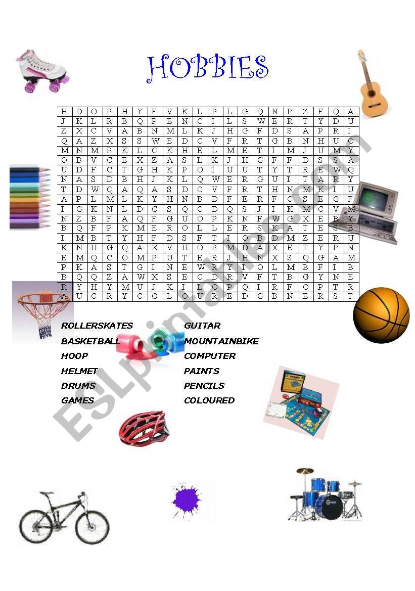 Hobbies (with answers) worksheet
