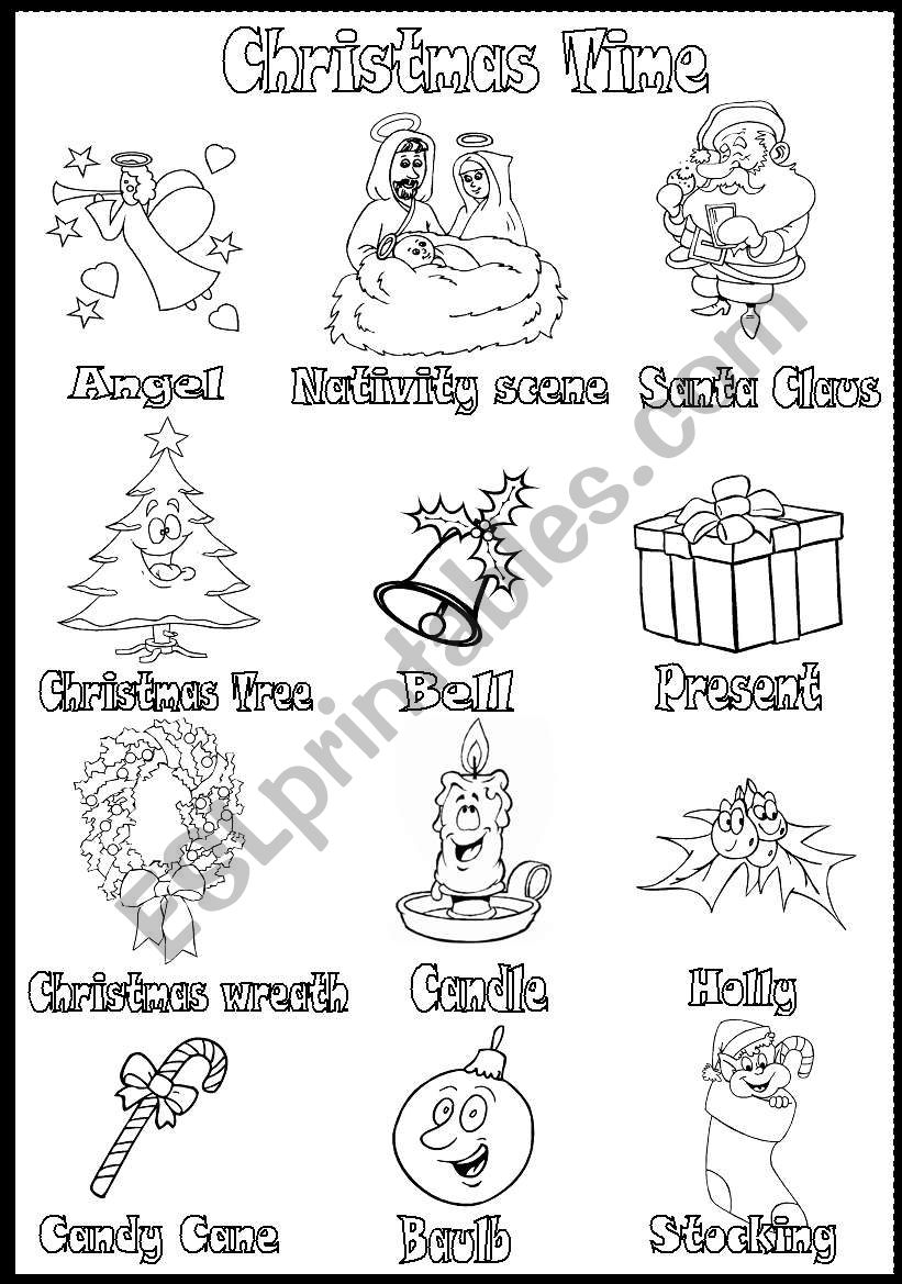 Christmas Time (vocabulary) worksheet