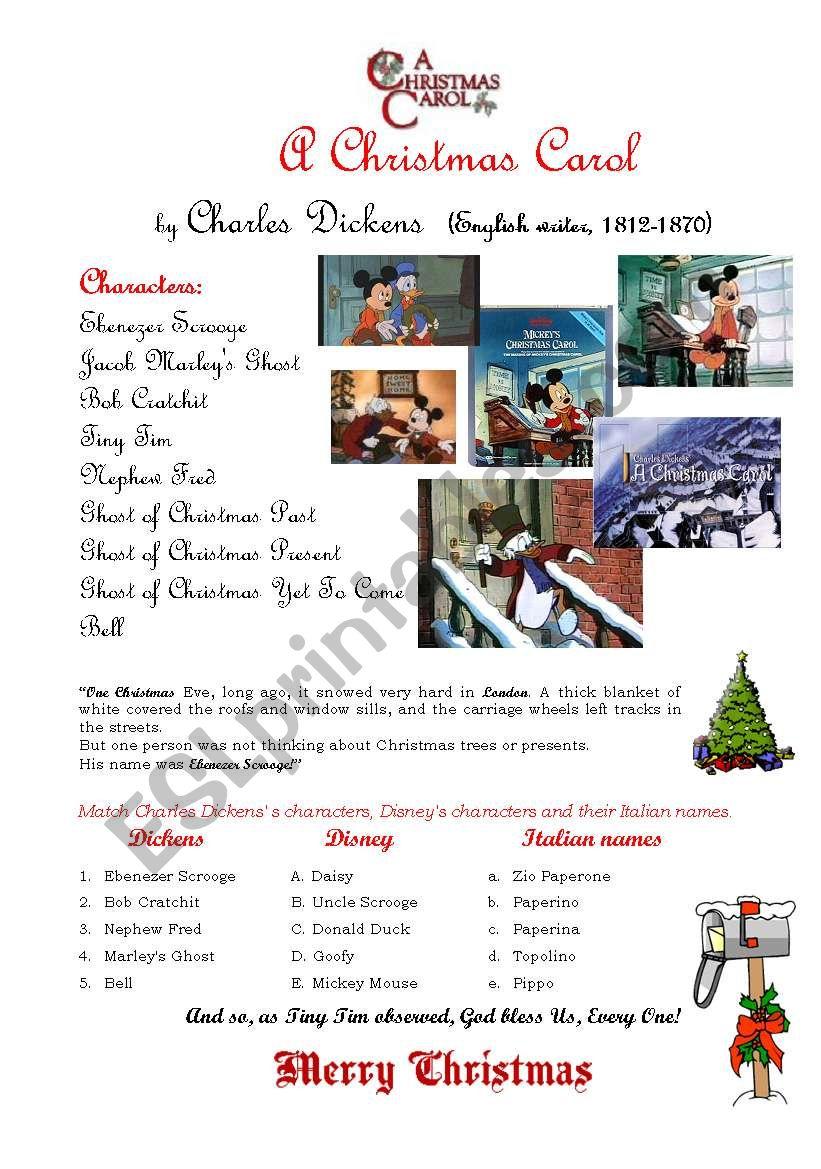 A Christmas Carol   ESL worksheet by customer