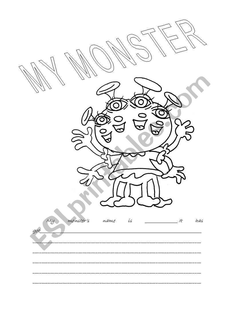 My monster worksheet