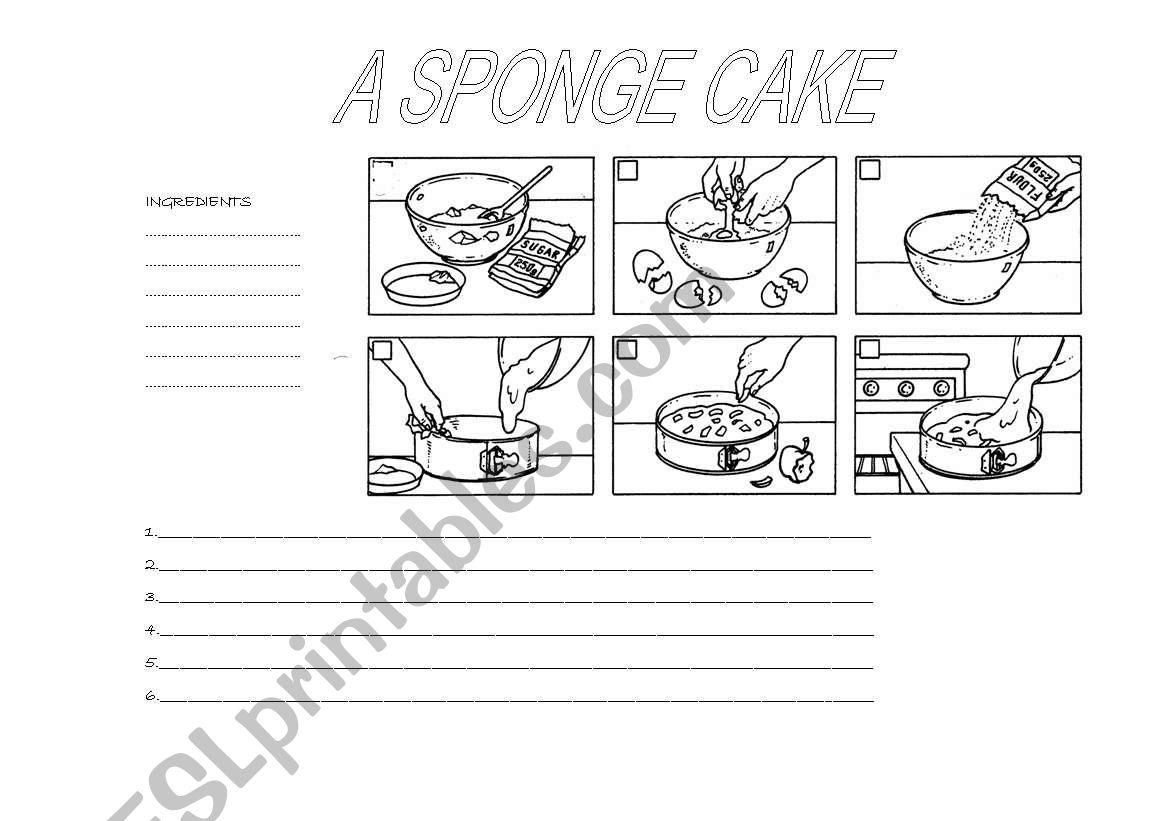 A sponge cake worksheet