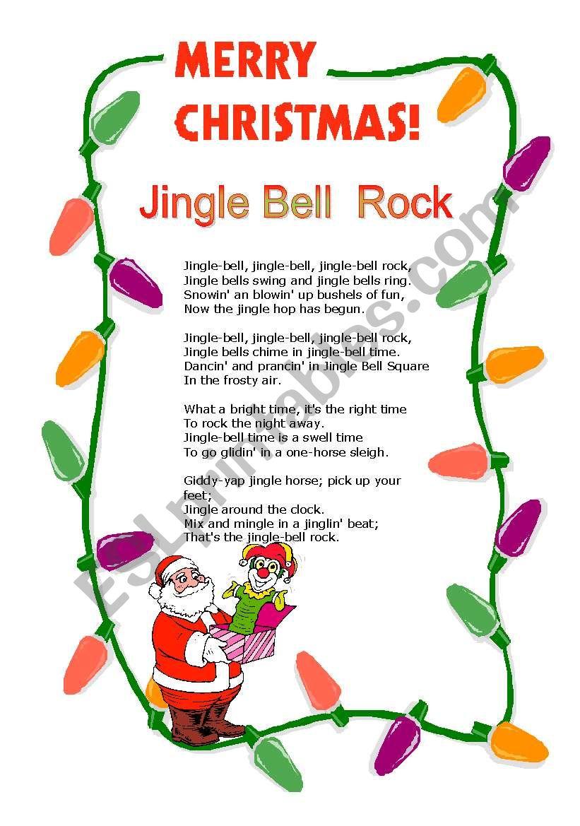 Jingle Bell Rock worksheet