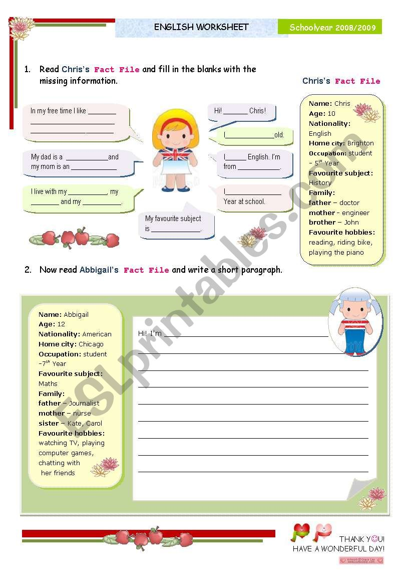 Pre-writing + writing activity for elementary or lower intermediate students