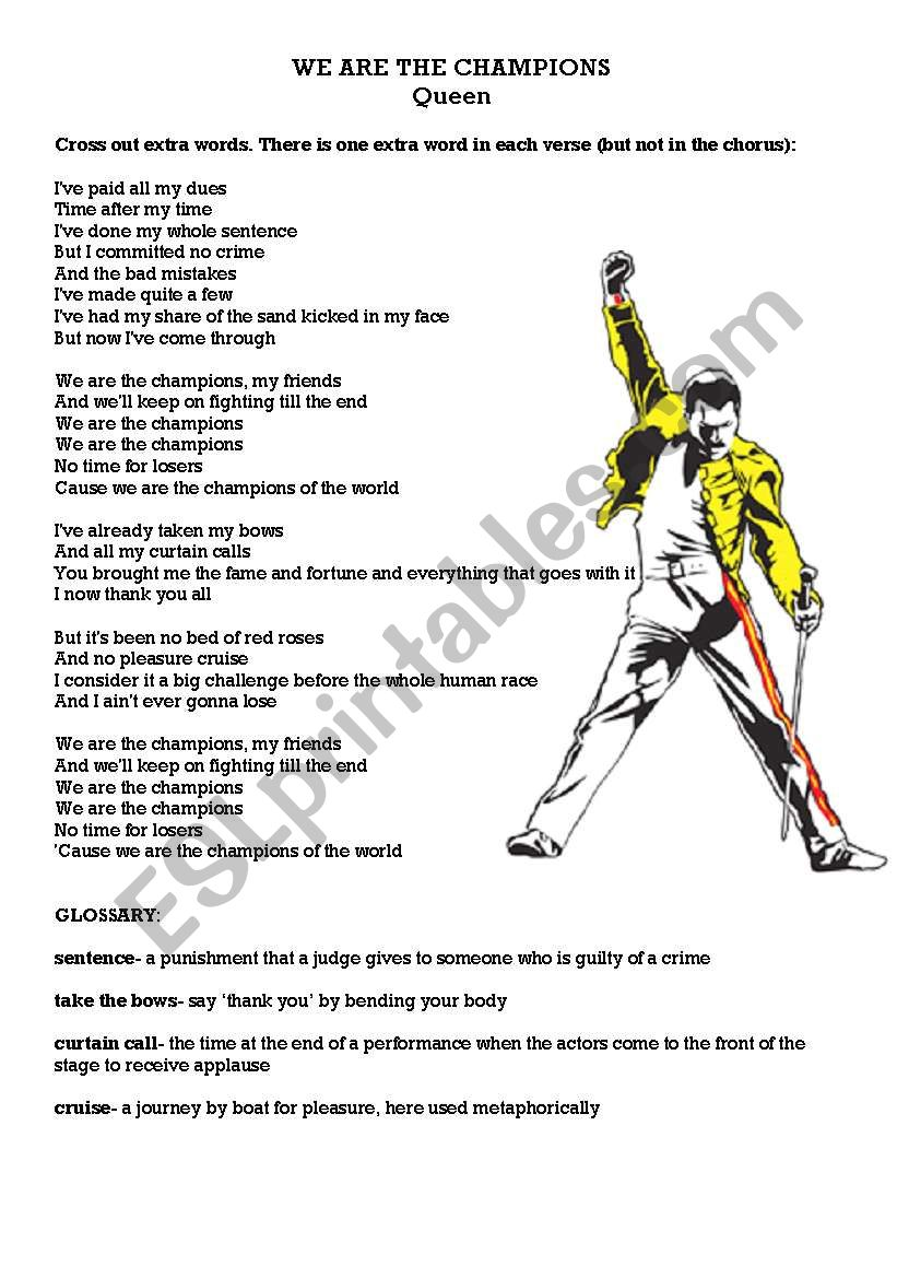 Sports - We are the champions worksheet