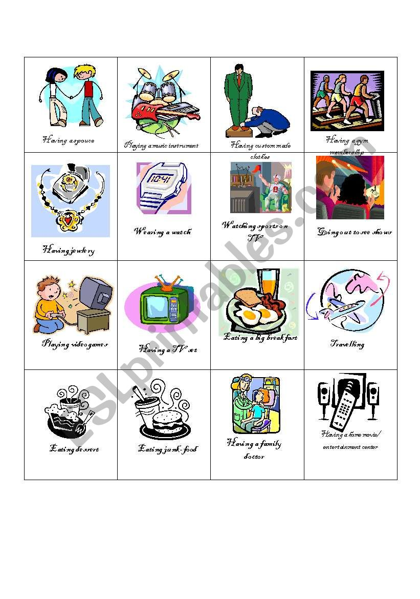 wants and needs game part 1 worksheet